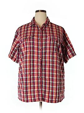 Venezia Short Sleeve Button-Down Shirt Size 18/20 Plus (Plus)
