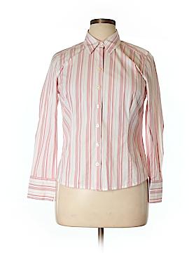 Ann Taylor Factory Long Sleeve Button-Down Shirt Size 14 (Petite)