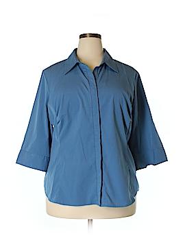 Venezia 3/4 Sleeve Button-Down Shirt Size 18/20 Plus (Plus)
