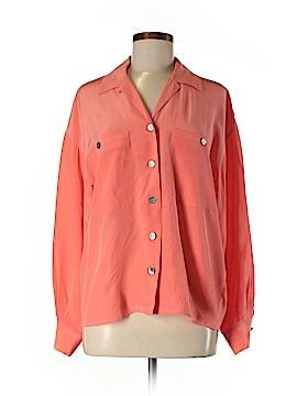 Anne Klein II Long Sleeve Silk Top Size 8
