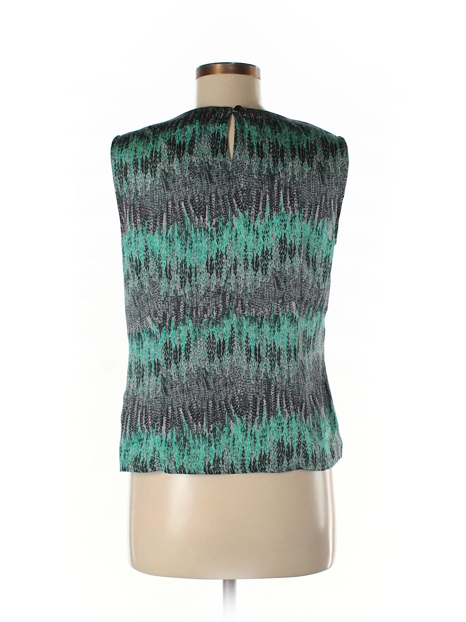 ac3903de9234e Kasper 100% Polyester Print Teal Sleeveless Blouse Size M (Petite) - 84%  off