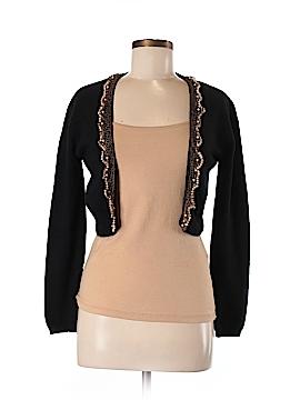 Lu Lu Lame Cashmere Cardigan Size M