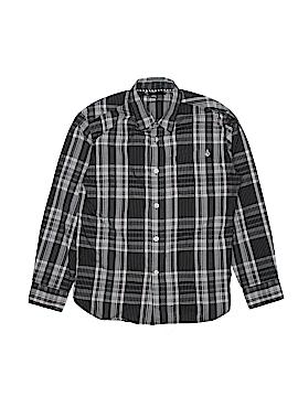 Volcom Long Sleeve Button-Down Shirt Size L (Kids)