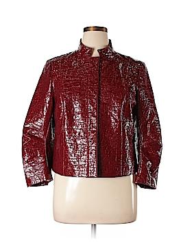 Lafayette 148 New York Faux Leather Jacket Size 14