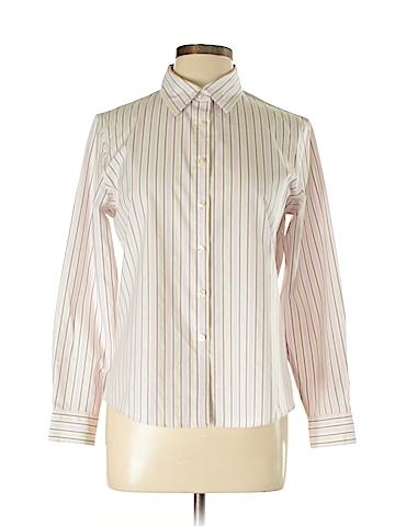 Charter Club Long Sleeve Button-Down Shirt Size 12 (Petite)