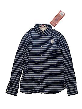 Scotch Shrunk Long Sleeve Button-Down Shirt Size 14