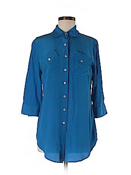 Soft Surroundings 3/4 Sleeve Silk Top Size XS