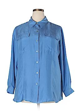 Chaus Long Sleeve Silk Top Size 18W (Plus)