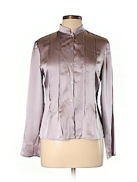 Laura Ashley Long Sleeve Silk Top Size 10