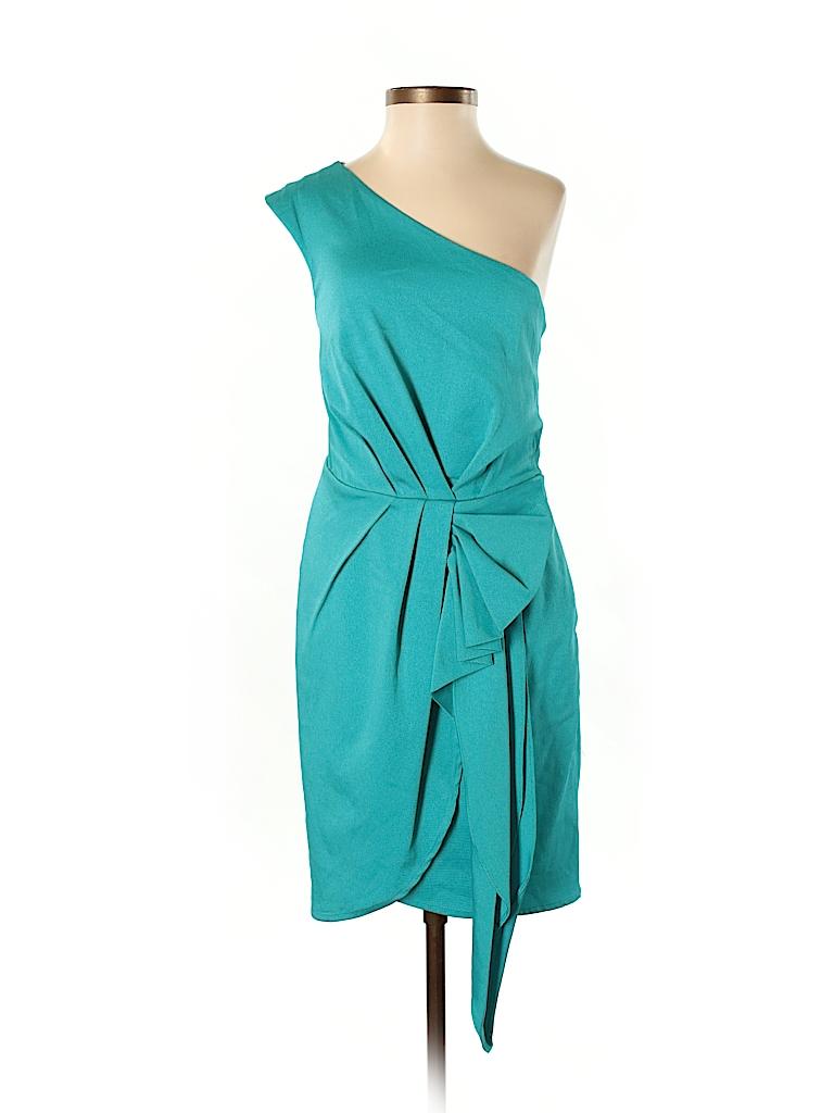 BCBGeneration Solid Teal Cocktail Dress Size 0 - 76% off   thredUP