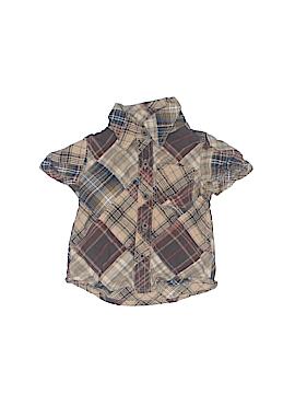Peek... Short Sleeve Button-Down Shirt Size 6-12 mo