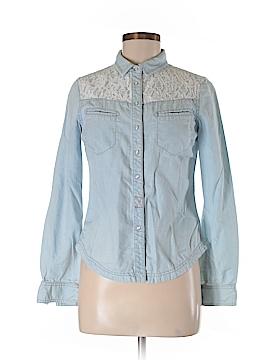 Wrap Long Sleeve Button-Down Shirt Size 6