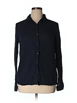 Three Dots Long Sleeve Button-Down Shirt Size XL