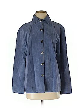 Chico's Design Leather Jacket Size Med (1)
