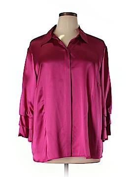 Lafayette 148 New York Long Sleeve Silk Top Size 20 (Plus)