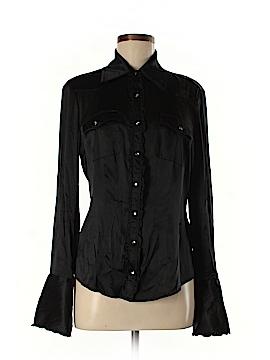 Bebe Long Sleeve Silk Top Size L