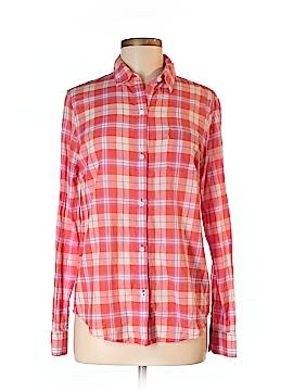 Canvas Long Sleeve Button-Down Shirt Size 8