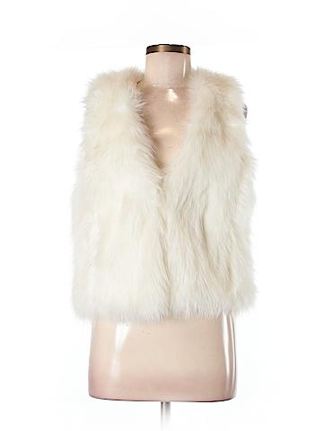 Silence and Noise Faux Fur Vest Size M