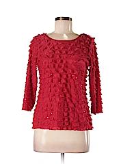Notations Women 3/4 Sleeve Blouse Size M (Petite)
