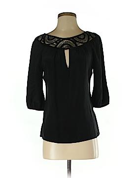Akiko 3/4 Sleeve Silk Top Size XS