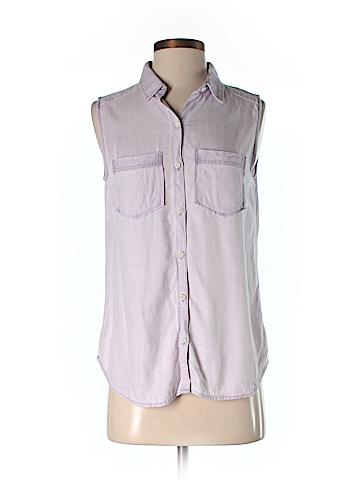 Rubbish Sleeveless Button-Down Shirt Size S