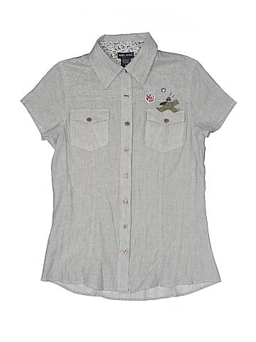 Wet Seal Short Sleeve Button-Down Shirt Size S