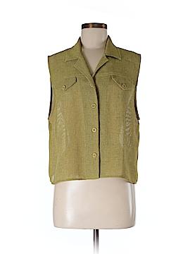 Donna Ricco Sleeveless Button-Down Shirt Size 14