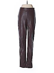 Ann Taylor Women Faux Leather Pants Size 2 (Tall)