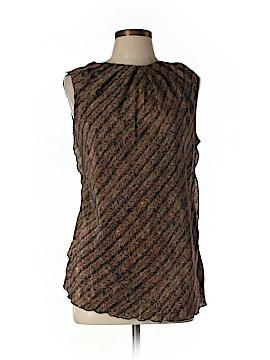 Hache Short Sleeve Silk Top Size 46 (EU)
