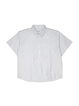 Jacadi Short Sleeve Button-Down Shirt Size 12