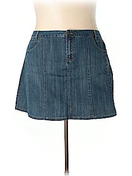 L.A. Blues Denim Skirt Size 24 (Plus)