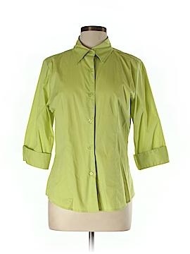 Metro Style 3/4 Sleeve Button-Down Shirt Size 10