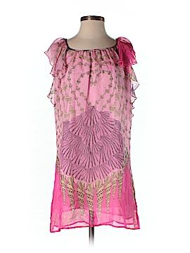 Aryn K. Short Sleeve Silk Top Size S