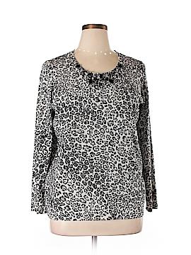 Jones New York Signature Silk Pullover Sweater Size 1X (Plus)