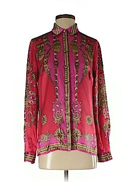Marchesa Voyage Long Sleeve Silk Top Size 4