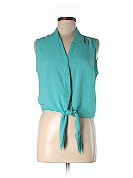 Jams World Sleeveless Button-Down Shirt Size M