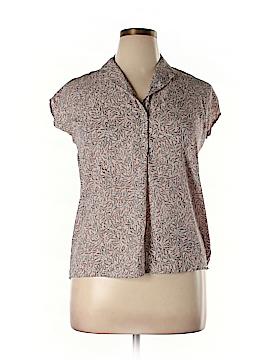 Claudia Richard Short Sleeve Blouse Size XL (Petite)