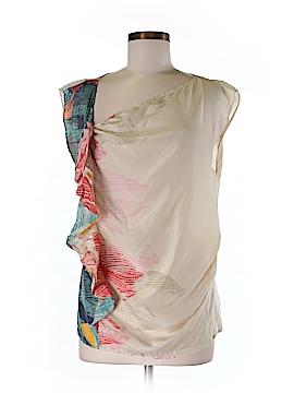 Hype Short Sleeve Silk Top Size 6