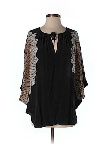 BCBGMAXAZRIA 3/4 Sleeve Silk Top One Size
