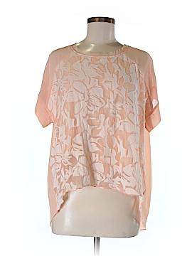 Sundance Short Sleeve Silk Top Size M