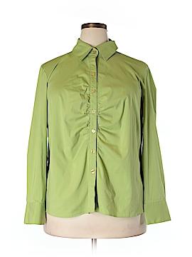 INC International Concepts Long Sleeve Button-Down Shirt Size 20W (Plus)