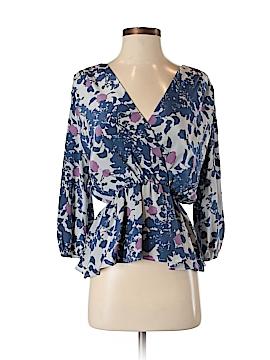 Aaron Ashe 3/4 Sleeve Silk Top Size M