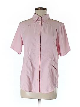 Reel Legends Short Sleeve Button-Down Shirt Size M