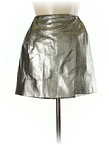 Diane von Furstenberg Leather Skirt Size 4