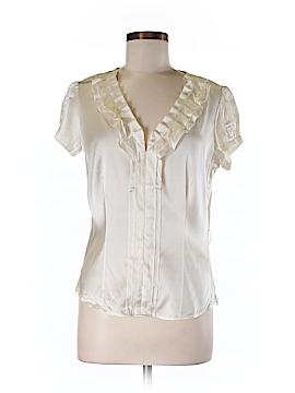 Etcetera Short Sleeve Silk Top Size 8
