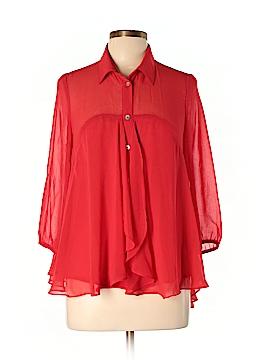 Francesca's 3/4 Sleeve Blouse Size L