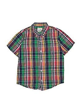 Peek... Short Sleeve Button-Down Shirt Size 10