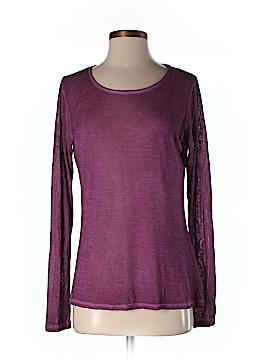 NM Luxury Essentials Long Sleeve Silk Top Size 2