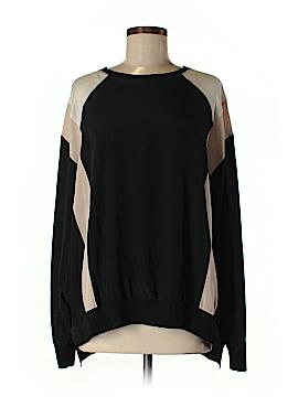 DKNY Long Sleeve Silk Top Size Med - Lg