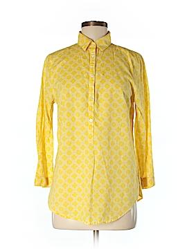 Lands' End 3/4 Sleeve Button-Down Shirt Size 6 (Tall)